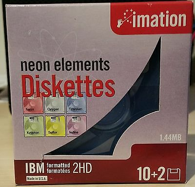 "1x Imation IBM Formatted Floppy Diskette 1.44MB 3.5"" Disc 2HD (Single Disc)"