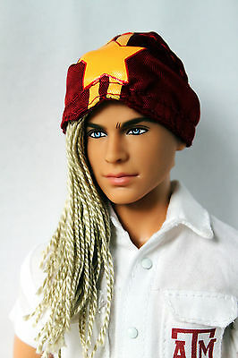 Ken Doll Texas A&M University Rerooted Redressed OOAK