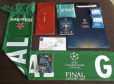 **CHAMPIONS LEAGUE FINAL COLLECTOR PACK Cardiff 2017 Real Madrid Juventus
