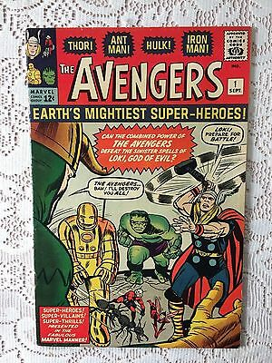 Marvel Comics Avengers #1 1963  FN+ (small colour touch to front cover/ spine)