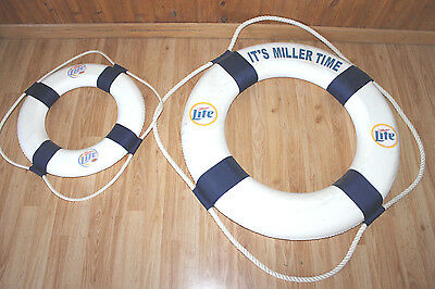 Rare Miller Lite Life Preserver Advertising Decoration Swimming Pool Beer Sign
