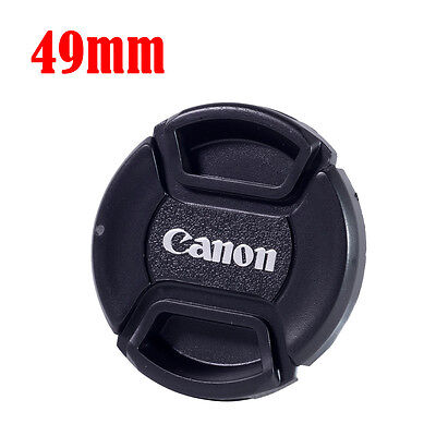 49mm Center-Pinch Snap-on Front Lens Cap Cover for Canon DSLR Camera Lens