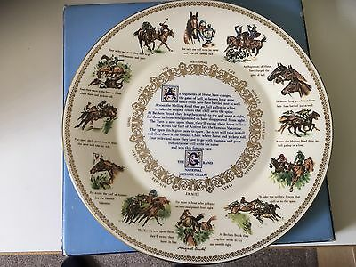 Aynsley Bone China ' The Grand National ' Plate 1982 – 10½ Inches. Free Postage