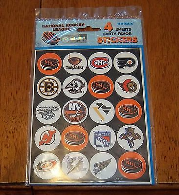 NHL stickers 4 sheets unopened package