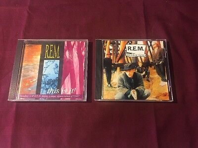 2 Rare Imported R.E.M. CDs Non Album Tracks And This Is It Silver Discs