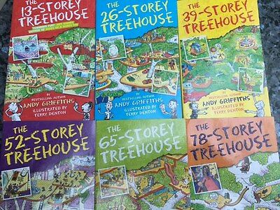 13, 26, 39, 52, 65, 78 Storey Treehouse Book Set- EXCELLENT CONDITION