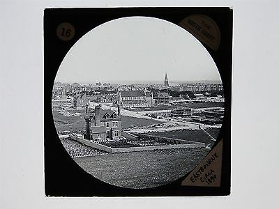 Glass Magic Lantern Slide - Eastbourne From The West - House Building