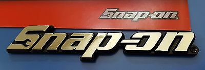 "Snap on STICK ON SMALL name plate emblem logo badge 4.5""x1"" NEW plastic silver"
