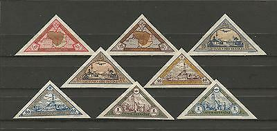 Lithuania Litauen 1932 MH Mi 324-331 Sc C47-54 Child Ist airmail iss imperfor