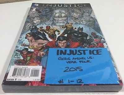 INJUSTICE Gods Among Us : YEAR 4 COMPLETE #1-12 DC Comics VF to NM