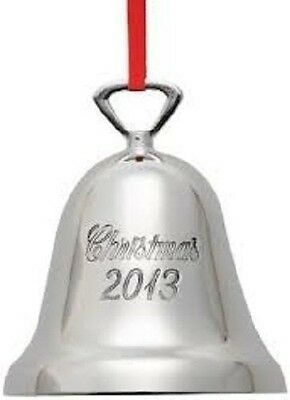 Reed & Barton 2013 Annual Silver Plated Christmas Bell Ornament Made In USA T1