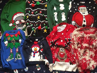 Job Lot 108 Mixed Christmas Jumpers(10 Kids)See Description For Brands