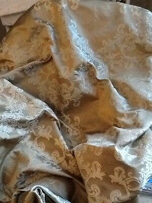 Large Remnant Fabric Duckegg Blue And Gold