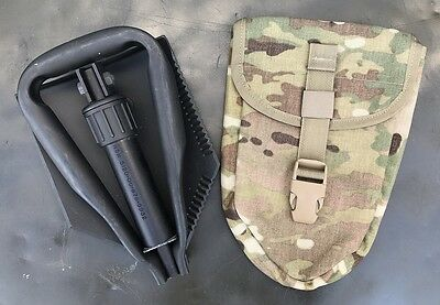 US Army Entrenching Tool E-Tool  Genuine Military Issue Shovel Spaten Multicam