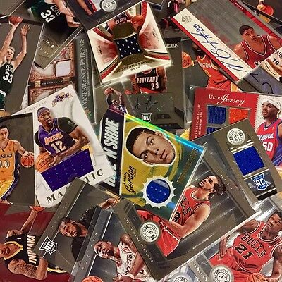 6 NBA Bastketball Trading Cards Including 1 Rare Relic Card Autograph Or Jersey