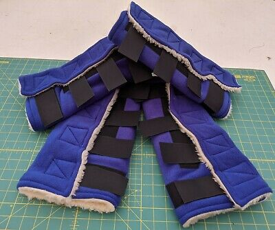 Fleece horse working in boots, full set of 4 boots, stable boots , stable chaps