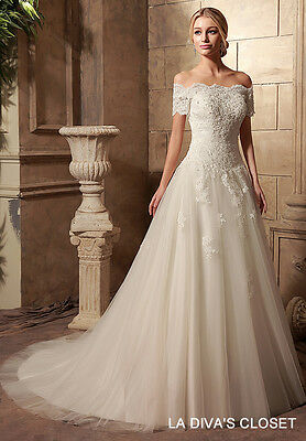 9ca1338c0345 BLING STRAPLESS Formal Mermaid Lace Wedding Dress Delivery In About ...