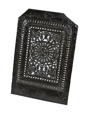 19Th C. Victorian Cast Iron Fireplace Summer Cover