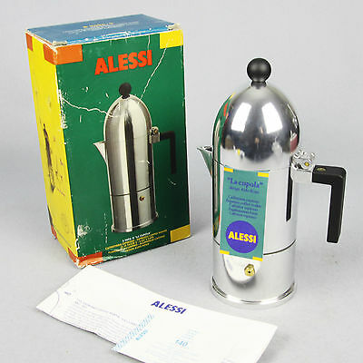CAFFETTIERA MOKA CUPOLA ALESSI DESIGN ALDO ROSSI NEW IN BOX UNUSED orig 1998