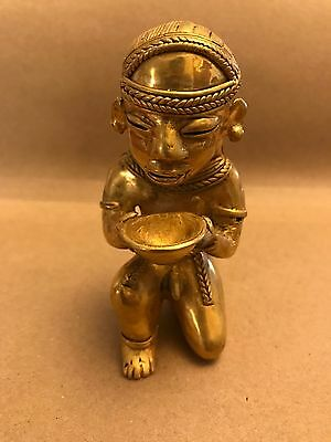 C) Colombia, Woman Servent, Tumbaga Details About Copper And Gold Alloy