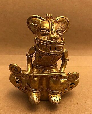 C) Colombia, Monkey Priest, Tumbaga Details About Copper And Gold Alloy