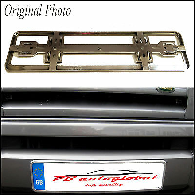 2x Deluxe Chrome Car Number Plate Licence Holder Frame Surround
