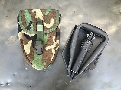 US Army Entrenching Tool E-Tool WCP Military Issue Shovel Spaten woodland camo