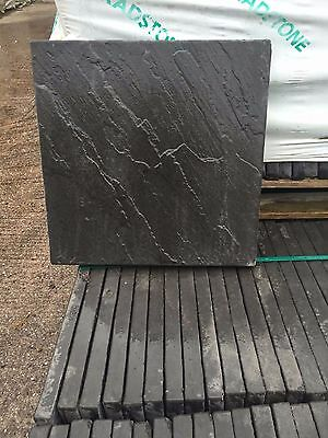 BRADSTONE PATIO PAVING SLABS/FLAGS DERBYSHIRE NOIR 450X450 RIVEN 20573- 15sqm