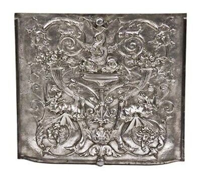 C. 1880's Ornamental Cast Iron Figural Residential Fireplace Summer Cover