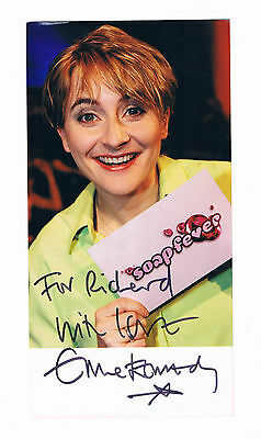 Emma Kennedy Presenter Hand Signed Soap Fever Photograph 8 x 4