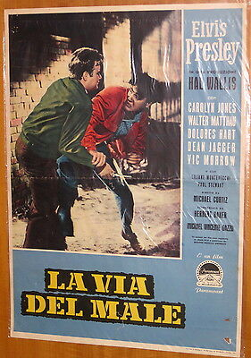 Elvis R-A-R-E KING CREOLE Italy only Insert Movie Poster 70x50 1st edit JAN-1958