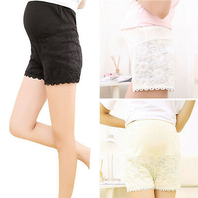 Pop Maternity Shorts Pregnant Women Over Bump Pants Adjustable Waist Bottoms