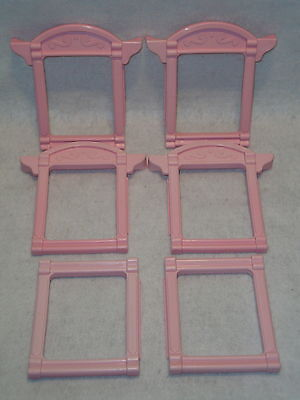 Fisher Price 6364 Loving Family Dream House Replacement Pink WINDOWS Lot x 6