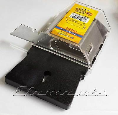 100 Replacement Utility Knife Blades with Dispenser Fits Stanley knifes T080