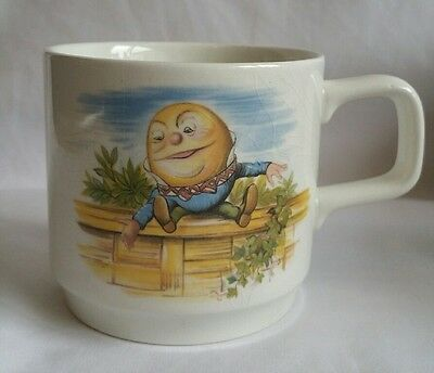 Vintage Alice In Wonderland Humpty Dumpty Children's Nursery Rhyme China Cup Mug