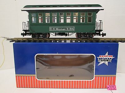 USA TRAINS G SCALE U.S.MILITARE R.Rds.R-30305 UNDECORATED PASSENGER CAR NEW O.B.