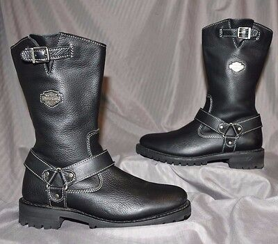 HARLEY-DAVIDSON Motorcycle Harness Boots Leather Black Women's Size US 7~# 85059
