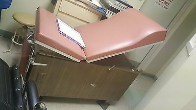 Medical Examination Table Bed OB/GYN  Adjustable with stirrups and drawers