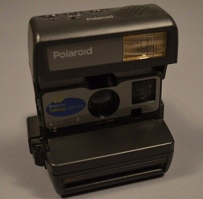 Vintage Polaroid One Step Talking 600 Film Instant Camera TESTED WORKING