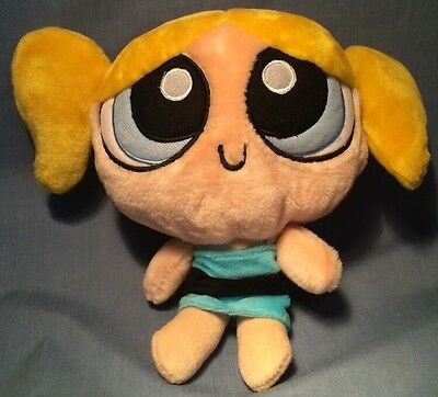 "Cartoon Network Powerpuff Girls 12"" Felt Buttercup Plush Figure Removable Dress"