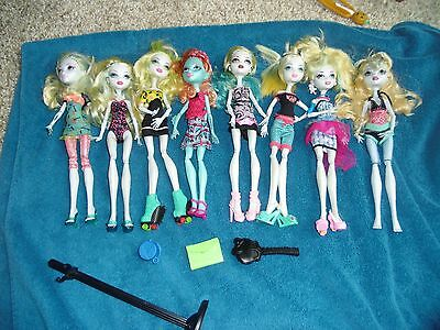 Mattel Monster High Doll Loose Lagoona Blue Lot 8 Dolls Accessories
