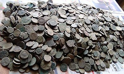 Lot 50 uncleaned ancient Roman bronze coins
