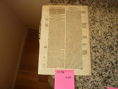 (Leaf) Original from John Foxe's Actes and Monuments of the Martyrs 1576 441 yrs