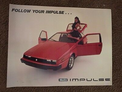 1982 Isuzu Impulse Poster Penthouse Pet Of The Year Corinne Alphen,