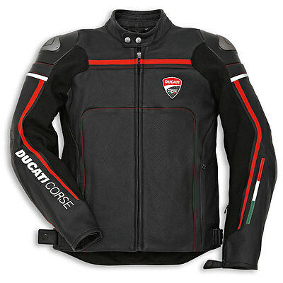 Ducati Black Motorcycle Leather Jacket available in all sizes
