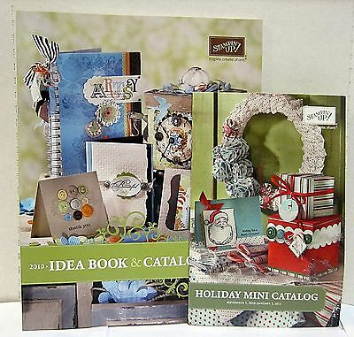 Stampin Up Idea Book & Catalog 2010-2011 New Condition 224 PGS and MINI Catalog