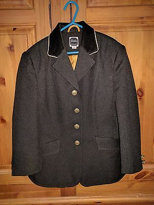 Dublin Childs Show Competition Horse Riding Jacket Blazer Size 24 Black