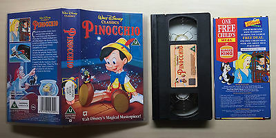 Disney - Pinocchio - Vhs Video