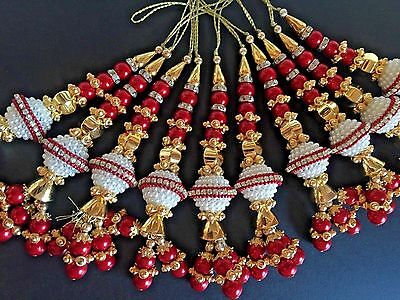 1 Pair of Fashionable Zircon Tassel Latkan Sari Blouse Accessory Duppata Suit
