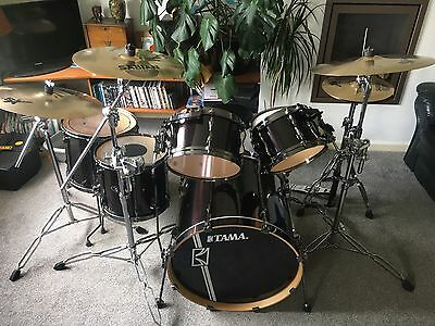 Tama Superstar Hyperdrive Drum Kit With Sabian Cymbals